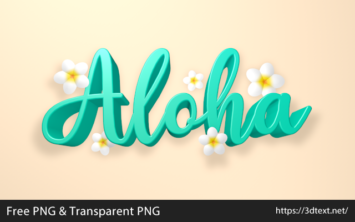 Alohaの無料3D文字素材