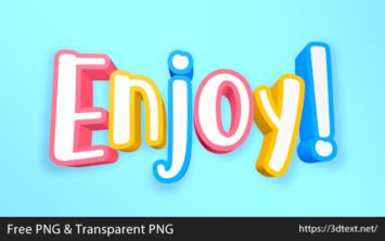 Enjoyの無料3D文字素材