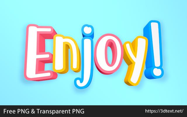 Enjoyの無料3D立体文字