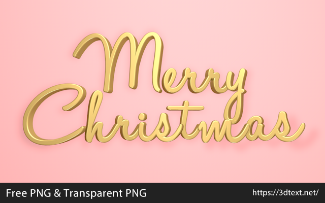 Merry Christmasの無料3D立体文字