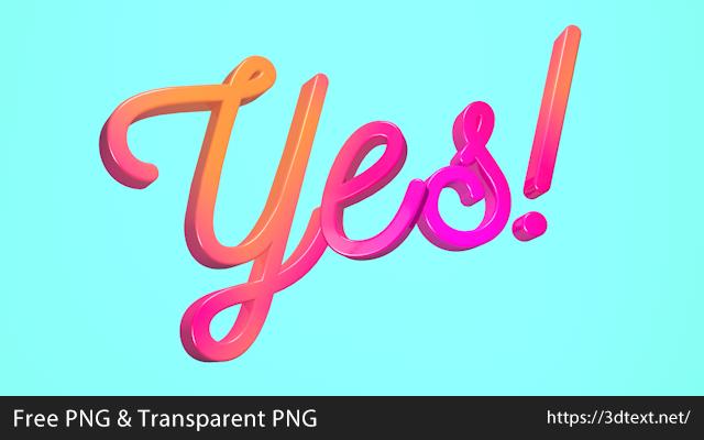 Yesの無料3D立体文字