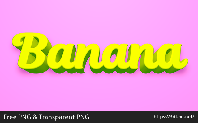 Bananaの無料3D立体文字