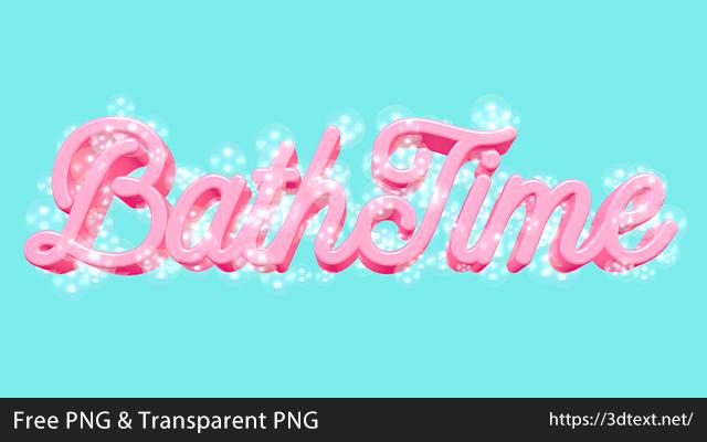 Bath Timeの無料3D立体文字