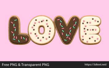 LOVEの無料3D文字素材