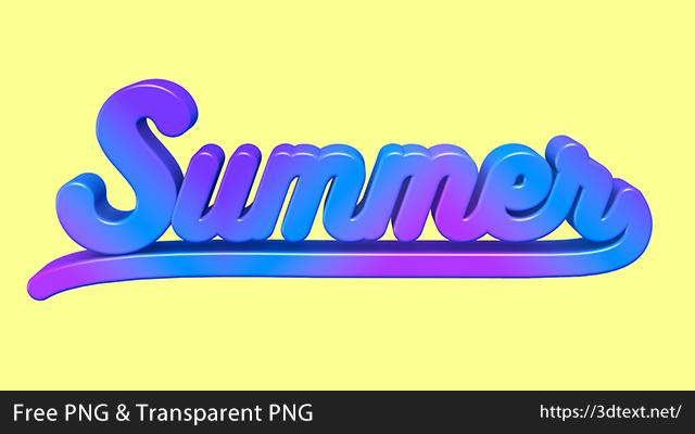 Summerの無料3D立体文字