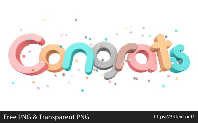 Congratsの無料3D立体文字