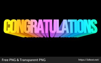 Congratulationsの無料3D文字素材