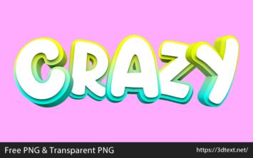 Crazyの無料3D文字素材