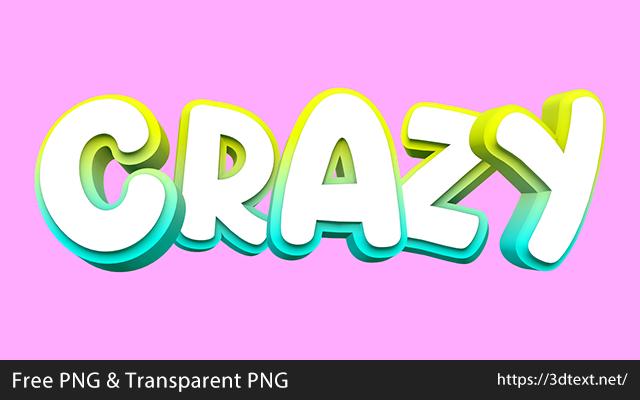 Crazyの無料3D立体文字