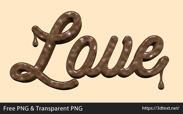 Loveの無料3D立体文字