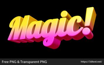 Magicの無料3D文字素材