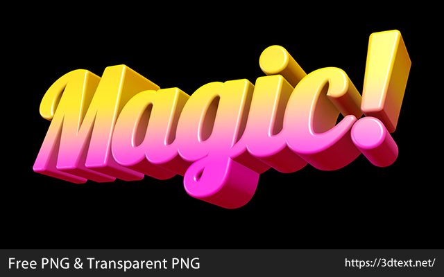 Magicの無料3D立体文字