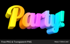 Party 3D Word